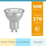5W DIMMABLE LED GU10 SILVER LAMP_v